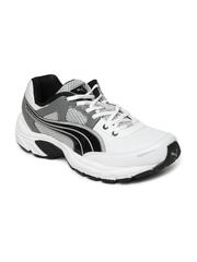 Puma Men White & Grey Falcon XT Casual Shoes