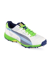 Puma Men White Evospeed Cricket Rubber Sports Shoes