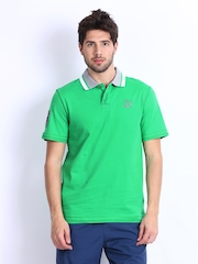 Puma Men Green Polo T-shirt