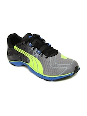 Puma Men Grey & Black Mobium Elite v2 Sports Shoes