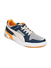 Puma Men Grey & Blue Future Slipstream Lo Mix Casual Shoes