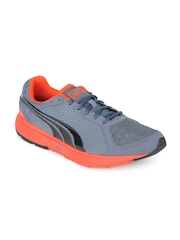 Puma Men Grey & Red Descendant Sports Shoes