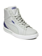 Puma Men Grey Future Suede Mid Fil Sneakers