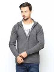 Puma Men Grey Hooded Sweater