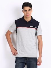 Puma Men Grey Melange BMW Polo T-shirt