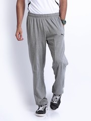 Puma Men Grey Melange Track Pants
