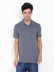 Puma Men Grey Polo T-shirt