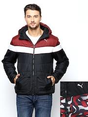 Puma Men Black Reversible Hooded Jacket