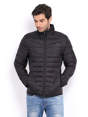Puma Men Black Padded Packable Jacket