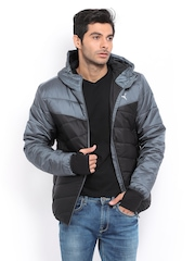 Men Grey & Black Padded Jacket Puma