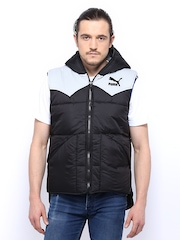 Puma Men Black Sleeveless Jacket