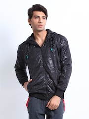 Puma Men Black Windbreaker Jacket