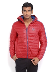 Puma Men Red Hooded Jacket