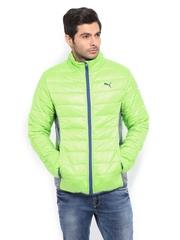 Puma Men Neon Green Padded Jacket