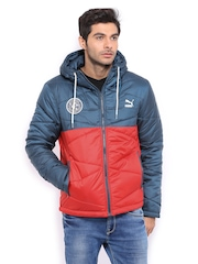 Puma Men Navy & Red Padded Jacket