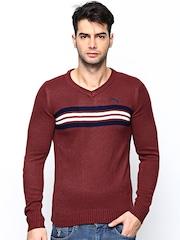 Puma Men Maroon Long Sleeve 2 BIK Sweater