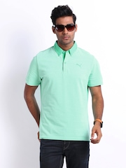 Puma Men Mint Green Reverse Pique Polo T-shirt
