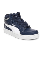 Puma Men Navy & White Rebound DP Casual Shoes