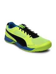 Puma Men Neon Yellow evoSPEED Indoor 5.2 Sports Shoes