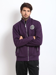 Puma Men Purple Sweat Jacket