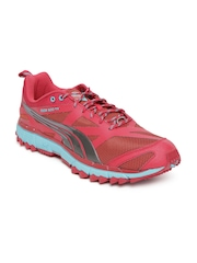2a47a6ac89222c Puma Men Red   Turquoise Blue Faas 500 TR Running Shoes