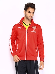 Puma Men Red AFC T7 Anthem Jacket