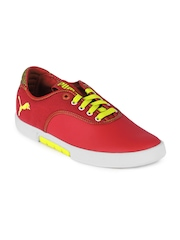 Puma Men Red Funist Lo Mat.St. Casual Shoes