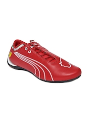 Puma Men Red Future Cat M1 SF NM Leather Casual Shoes