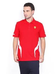 Puma Men Red Ferrari Polo T-shirt