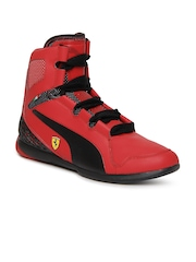 Puma Men Red Valorosso Mid Ferrari Sports Shoes