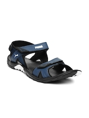 PUMA Men Navy & Black Vesta SDL DP Sports Sandals