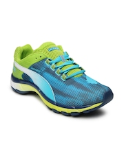 Puma Men Blue & Green Mobium Elite Speed Running Shoes