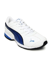 Puma Men White Tazon 5 Ind Running Shoes