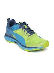 Puma Men Green & Blue Mobium Ride Running Shoes