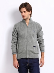 Puma Men Grey Melange Wool Blend Sweater