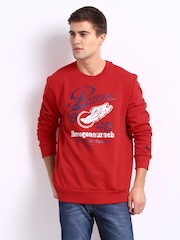 Puma Men Red Fleece Sweatshirt