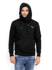 Puma Men Black Hooded Sweatshirt