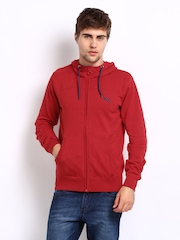 Puma Men Red Hooded Sweater