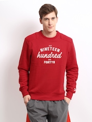 Puma Men Red Sweatshirt