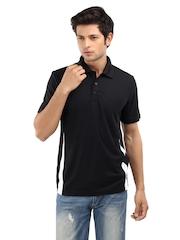Puma Men Black Stride Polo T-shirt