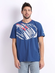 Puma Men Blue Printed Ferrari T-shirt