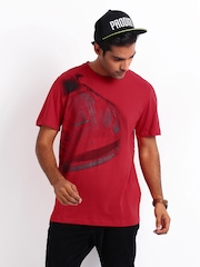 Puma Men Red Printed Ferrari T-shirt