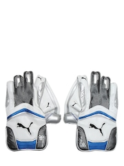 Puma Men White & Grey Kinetic 4700 Wicketing Gloves