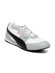 Puma Men White & Grey Speedo Ind Casual Shoes