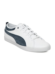 Men White Elsu Bluchertoe Casual Shoes Puma