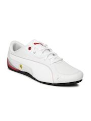 Puma Men White Drift Cat 5 SF NM Leather Sneakers