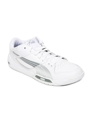 Puma Men White Hypermoto Low Sports Shoes