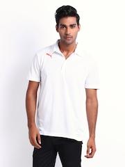 Puma Men White Polo T-shirt