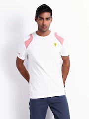 Puma Men White Ferrari T-shirt