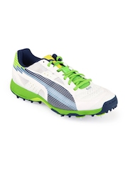 Puma Men White Evospeed Cricket Spike Sports Shoes
